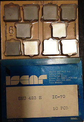ISCAR SNU 423E IC70 Carbide Inserts 10 Pcs New Lathe Mill Tools