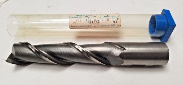 "Besly Bendix HSS End Mill 2 Flutes New USA 767 1"" Size 1"" Shank"