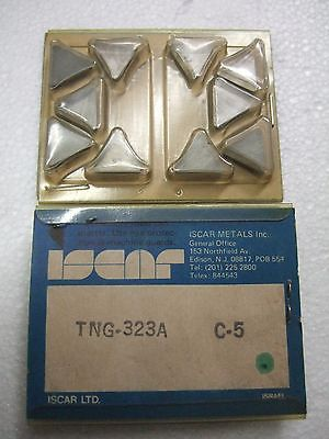 ISCAR TNG 323A C5 Carbide Inserts 10 Pcs New Lathe Mill Turning