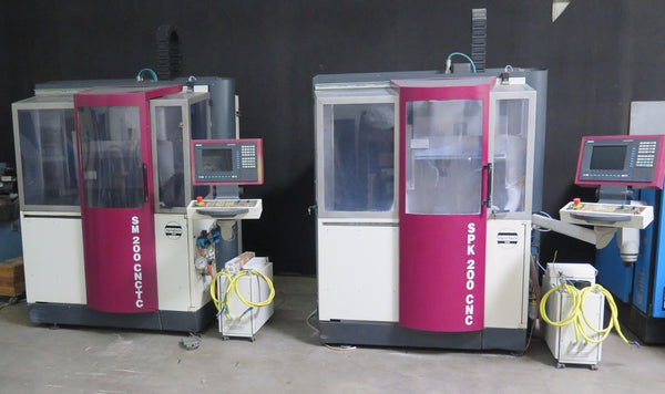 Lot of 2 OptoTech SPK 200 CNC-D Polishing & SM 200 CNC / TC-D Grinding Machines
