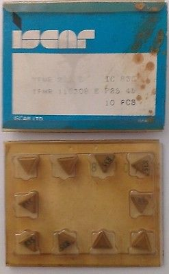 ISCAR TPMR 222 E IC 835 Carbide Inserts 10 Pcs Lathe Turning Mill Tools New Gold