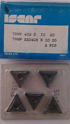 ISCAR TNMP 432 E IC 20 K 10 20 Carbide Inserts 5Pcs Lathe Turning New Mill Tools