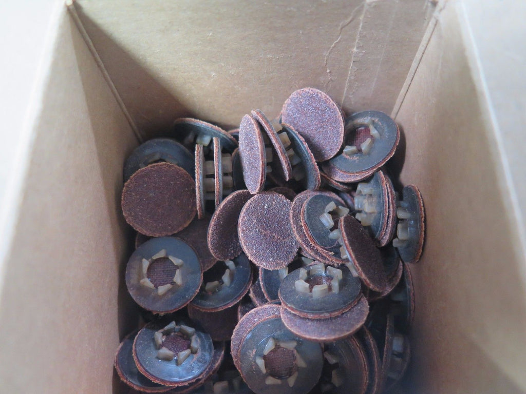 "100 Pcs MERIT 3/4"" Resin Bond Power-Lock Discs 61007 Grit 100 Brand New"