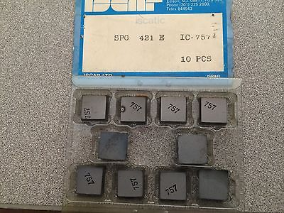 ISCAR Iscatic SPG 421 E IC 757 Carbide Inserts 10 Pcs Lathe Turning Mill Tools