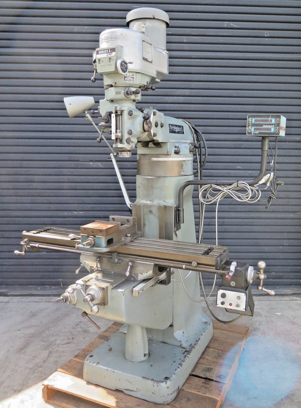 Bridgeport Vertical Mill Milling Machine Variable Speed Riser 9x42 ACU-RITE DRO