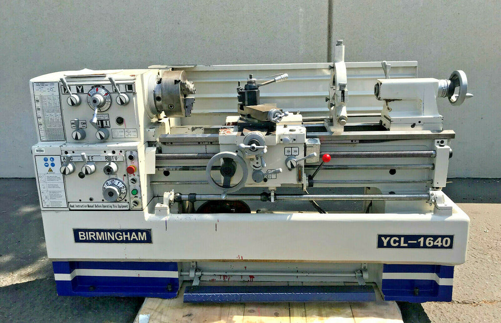 "BIRMINGHAM YCL -1640 Gap Bed Engine Lathe 16"" x 40"" W/ Taper Attach Barely Used"