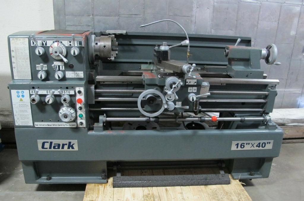 "CLARK Gap Bed Engine Lathe 16"" x 40"" W/ Taper Attach Barely Used Year 2008"