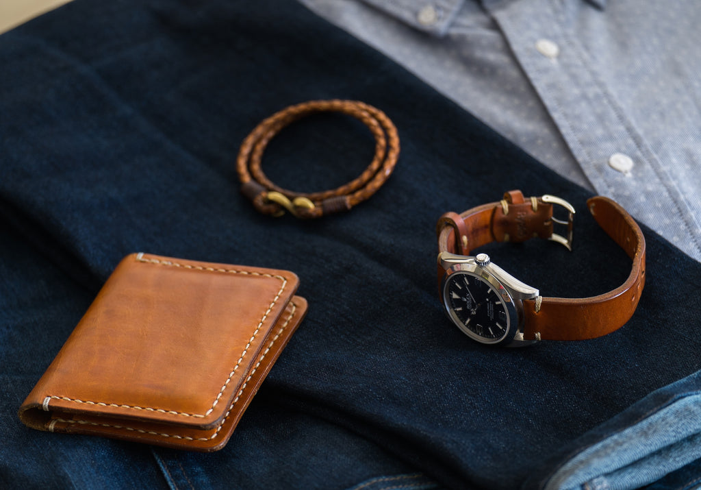Derby wallet with Whiskey watch strap from Ryoko