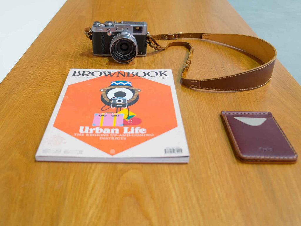 Leon camera strap by Ryoko Bags is made from premium Italian full-grain leather
