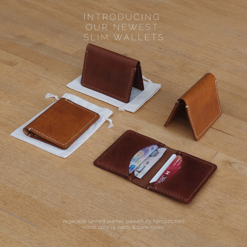 Derby Handstitched wallet aviable in Tan and Brown