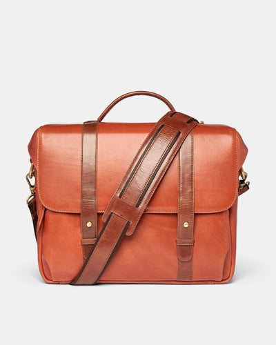 MT Cleveland Travel / Camera Bag,  by Ryoko Bags Dubai. Hand Stitched, using vegetable tanned Japanese leather