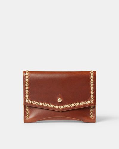 MT Siena Pouch Wallet, Wallets by Ryoko Bags Dubai. Hand Stitched, using vegetable tanned Japanese leather