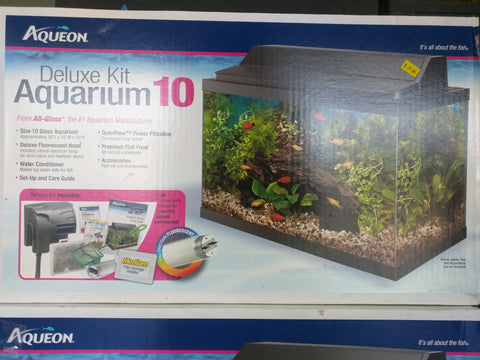 Deluxe Aquarium Kit 10 Gallon