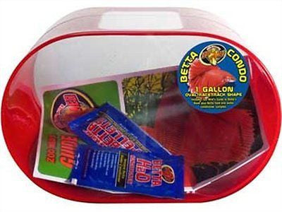 Betta Condo 1 Gallon Oval Red
