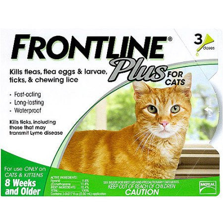 Frontline Plus For Cats 8 Weeks And Older