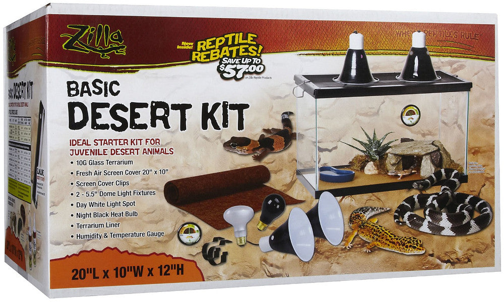 Zilla Basic Desert Kit 10 Gallon