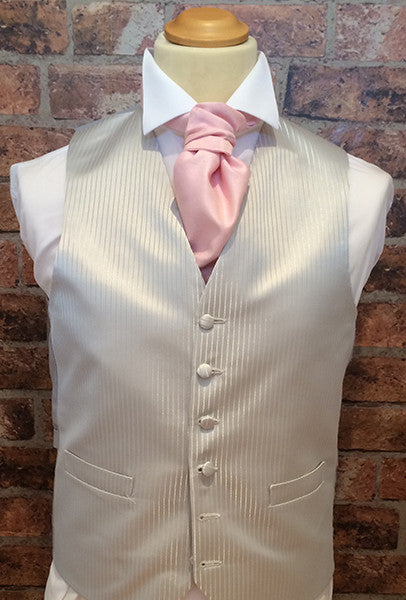 Silver Tenby and Baby Pink cravat