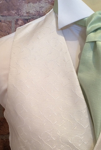 Ivory Life Swirl with Mint Cravat