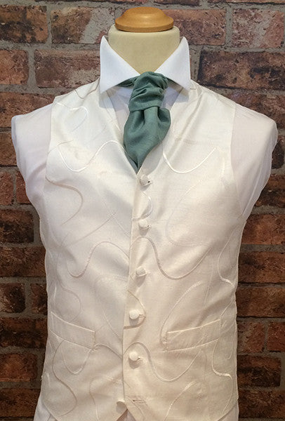 Ivory Swirl with Sage Cravat