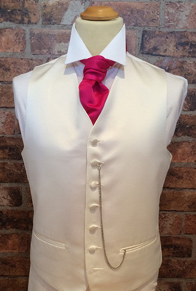 Ivory Life with Fuchsia Cravat