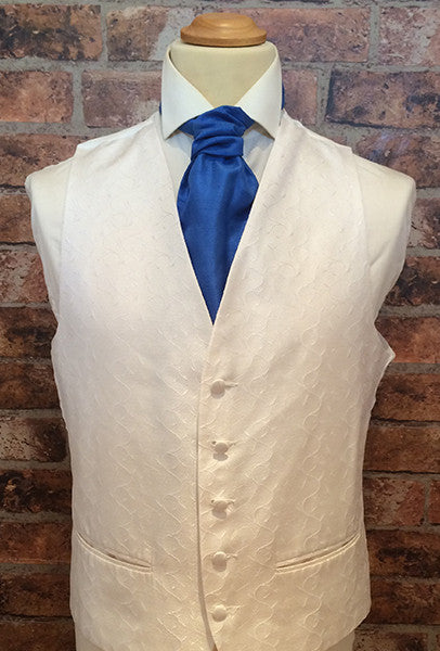 Ivory Life Swirl with Royal Blue Cravat
