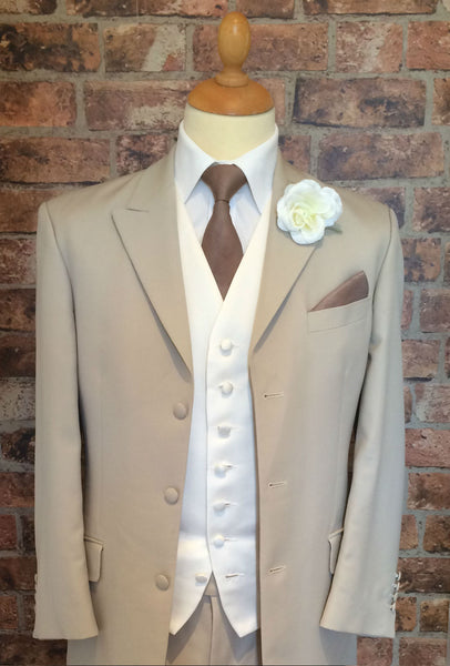 Beige Edwardian Morning Suit