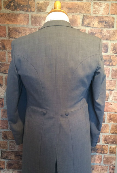 Light Grey Prestige Morning Tails (light weight and slim fit)