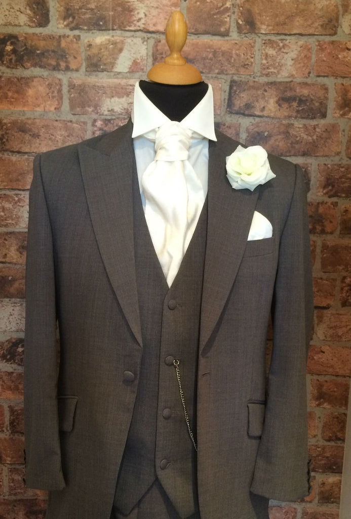 Grey Prestige Wedding Suit (light weight and slim fit)