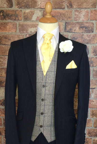 Navy Prestige Wedding Suit (light weight and slim fit)