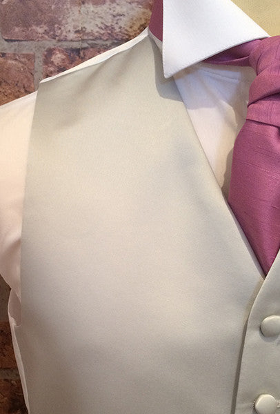 Silver Satin and Orchid Cravat