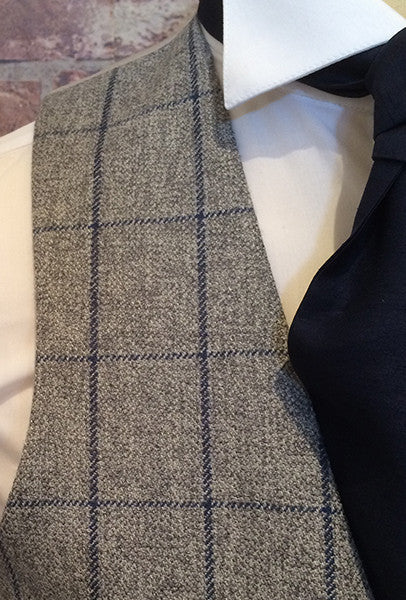 Tweed and navy