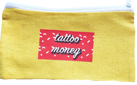 Tattoo money wallet and make up bag
