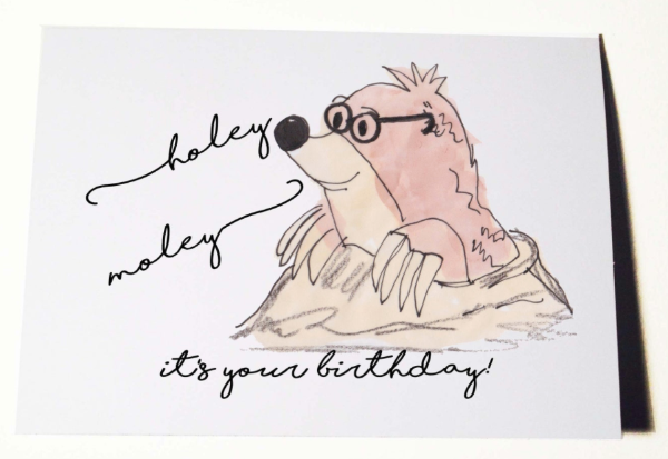 Holy mole-y Birthday Card