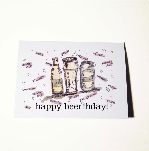 Beer day Birthday Card