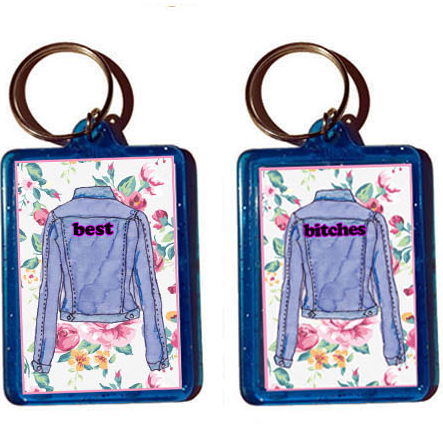 Best Bitches keychain Set