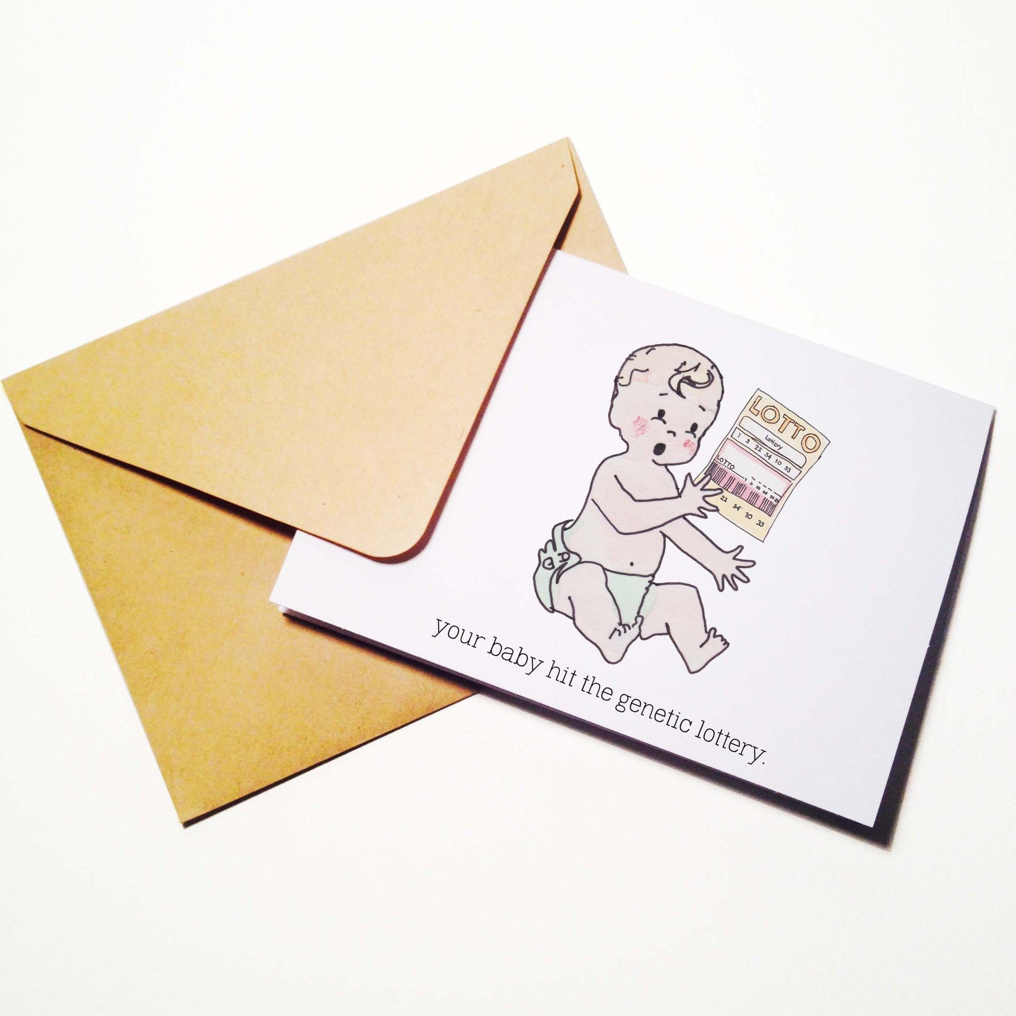 Genetic Lottery Baby Card
