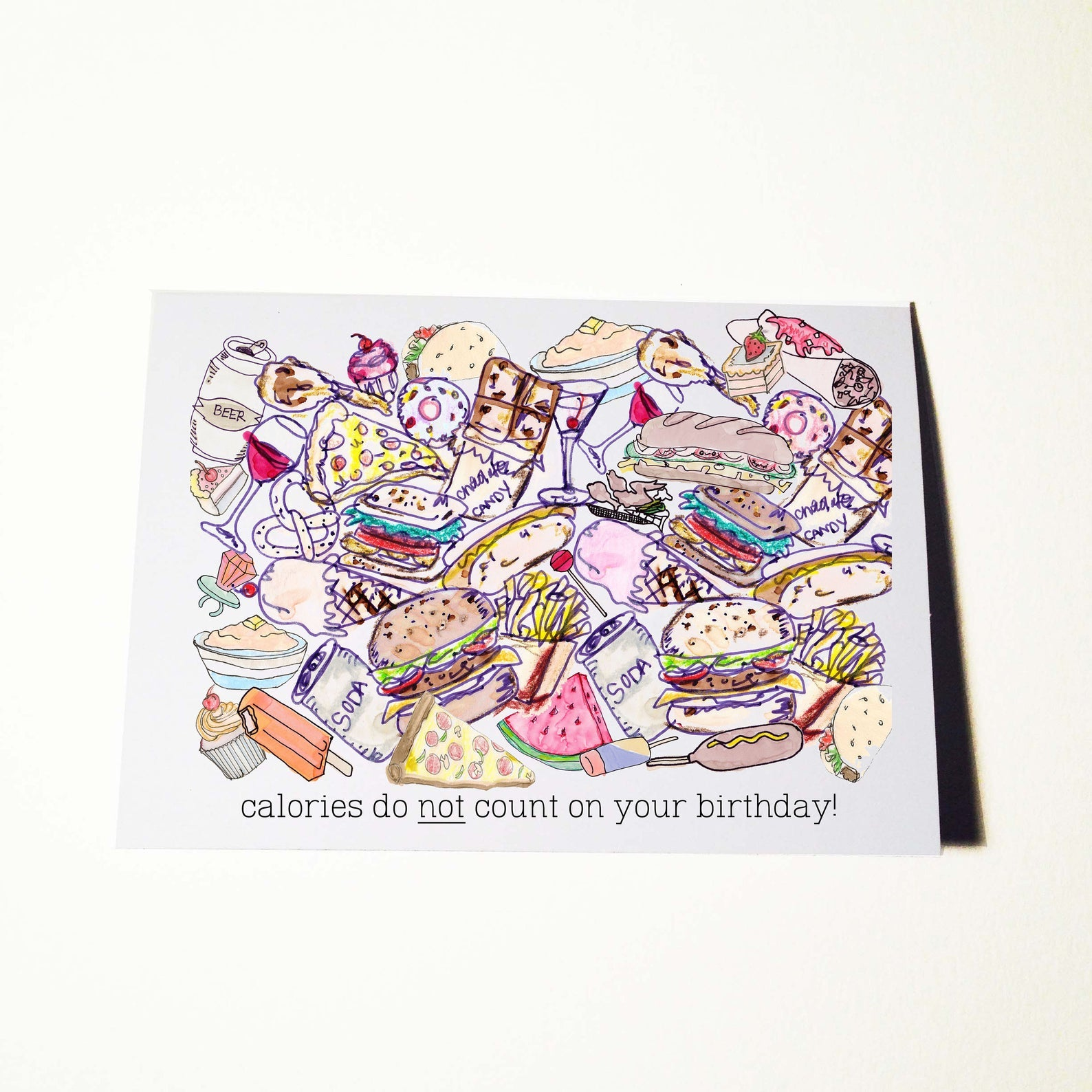 Foodie Birthday Card