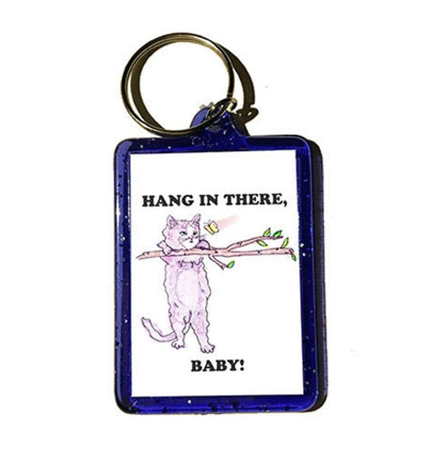hang in there, baby! keychain