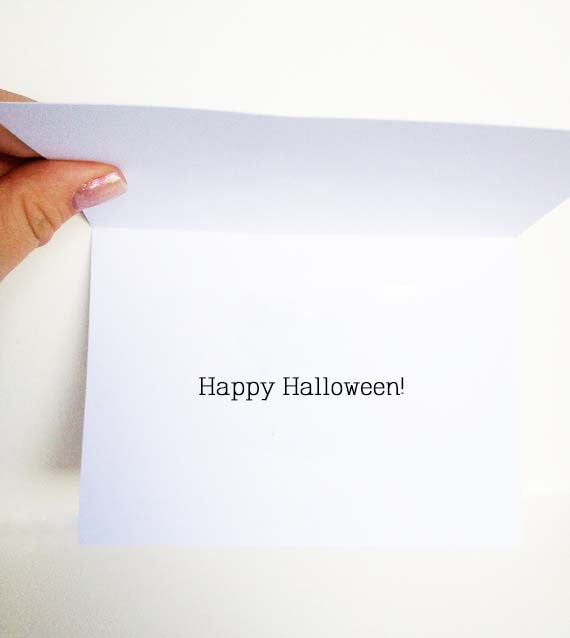 Ghost Turd Halloween Card