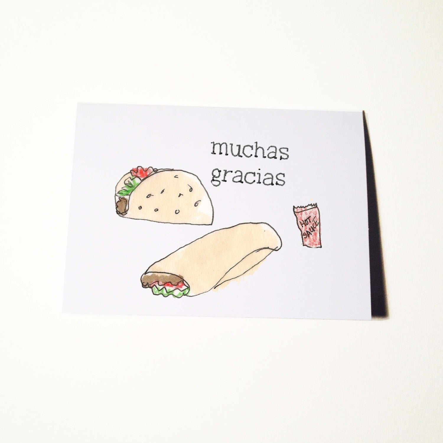 Muchas Gracias or Thank You Card