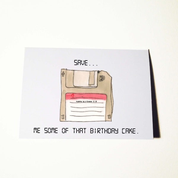 Save Me Some Cake Birthday Card
