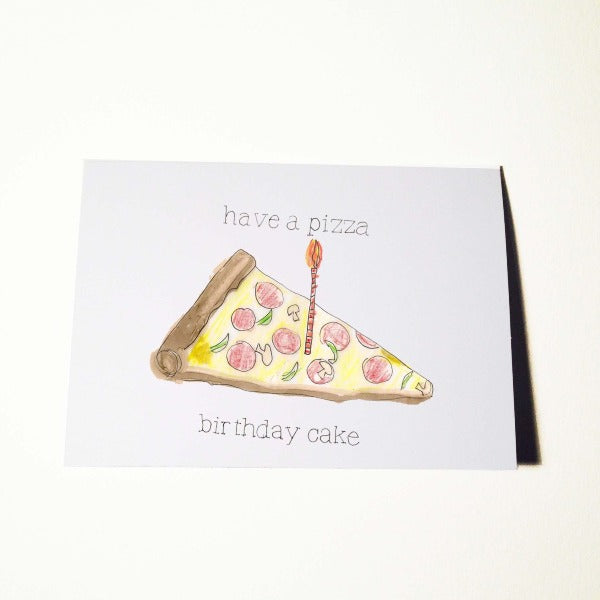 Pizza Birthday Cake Card