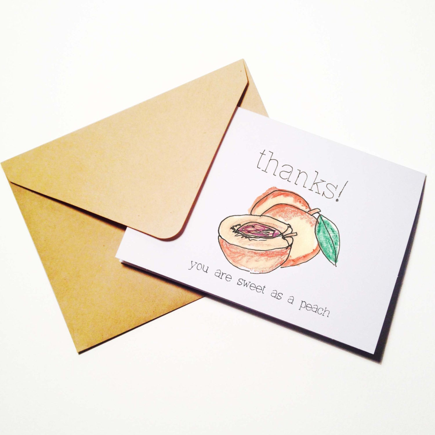Sweet as a Peach Thank You Card