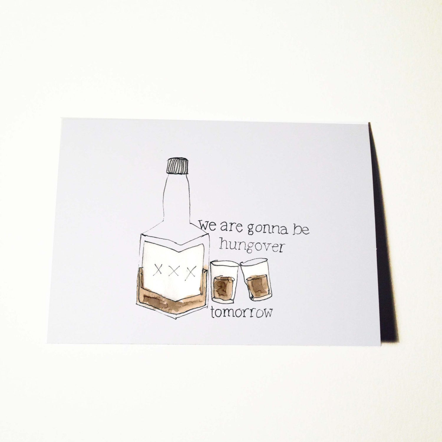 Hungover Card