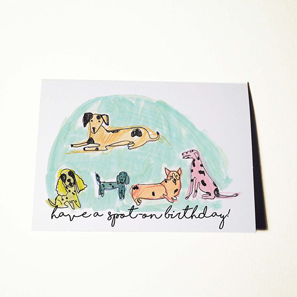 Spotty Dog Birthday Card