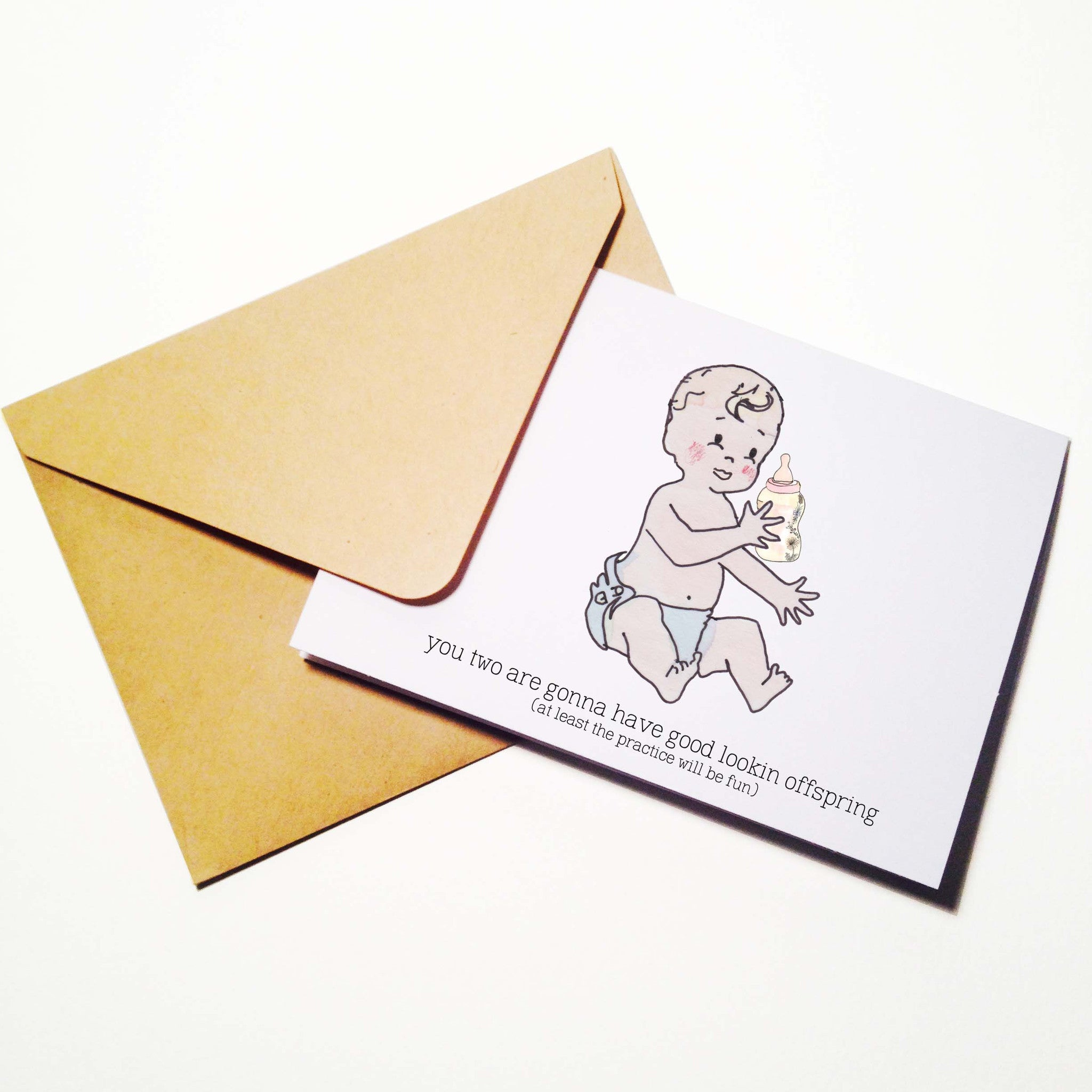 Honeymoon Baby Making Card