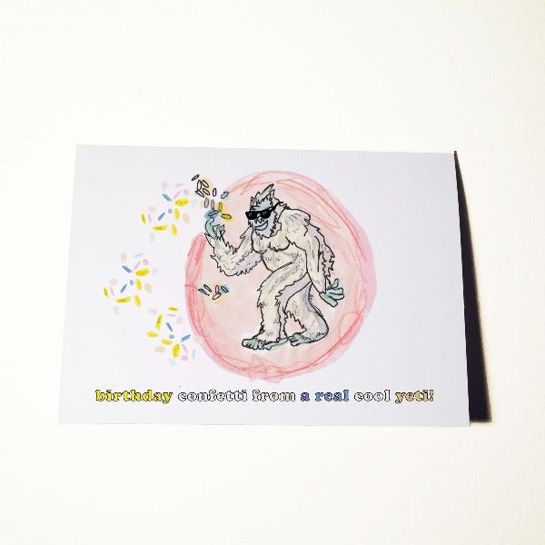 Yeti Birthday Card