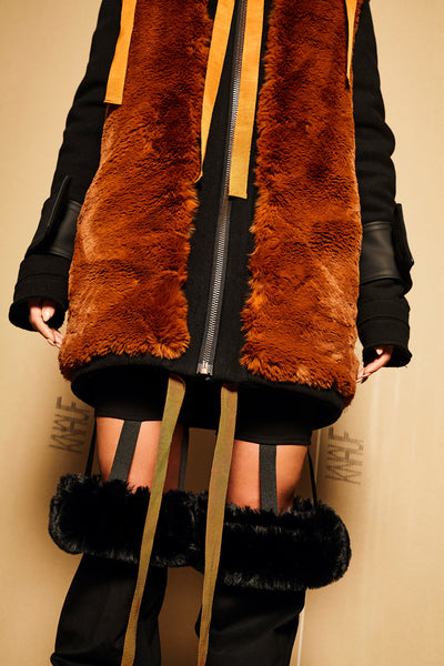 REVERSIBLE HERO WOOL FUR JACKET UNISEX - ON SALE
