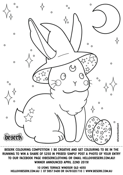 Beserk Easter Colouring Competition