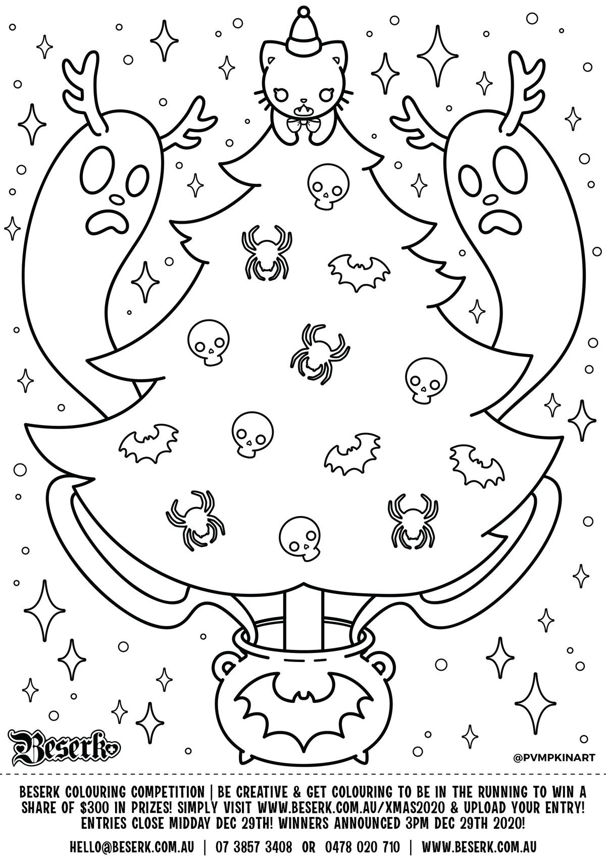 Beserk Christmas 2020 Colouring Competition